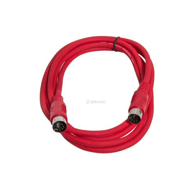 Justin MIDI-Kabel STD 2m rot