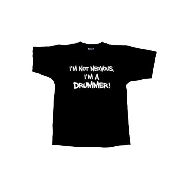 Groove & Wear T-Shirt I'm not Nervous I'm a Drummer