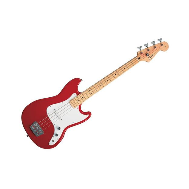 Squier Bronco Bass, Torina Red