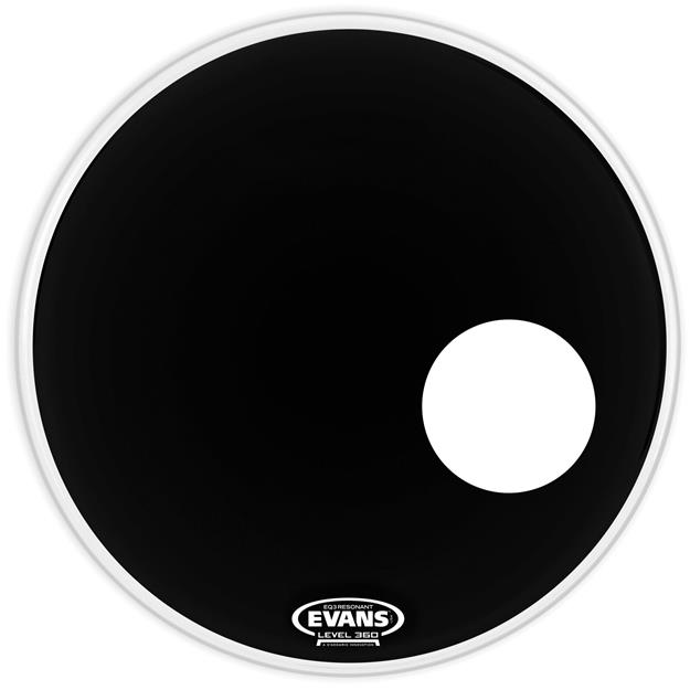 Evans EQ3 22'' Resonant Black - Bassdrum-Reso