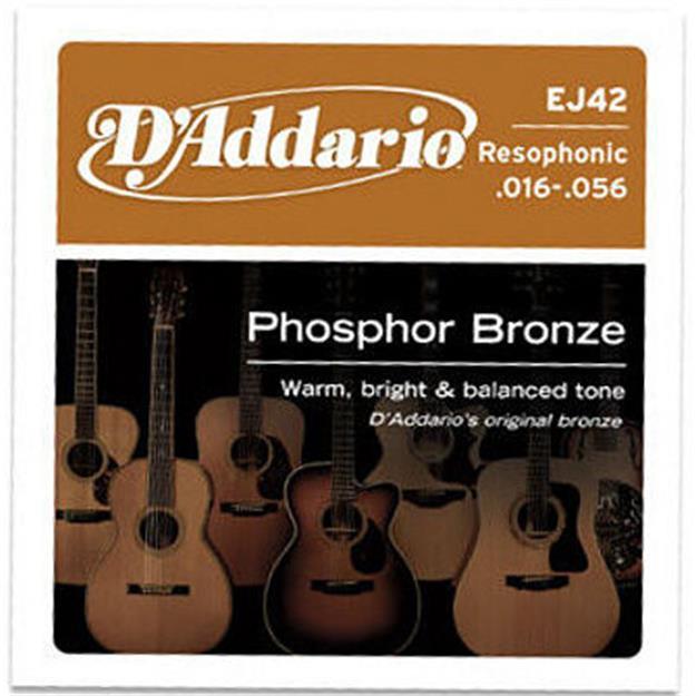 D'addario EJ42 Resophonic Phosphor Bronze