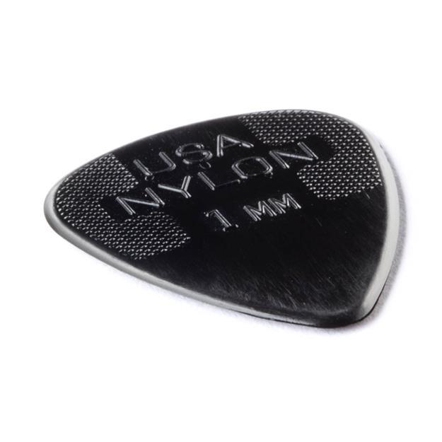 Dunlop Nylon Standard Plektrum, 1,00 mm, schwarz