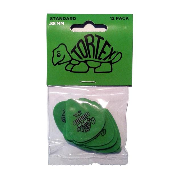 Dunlop Tortex Standard Plektrum, 0,88 mm, grün