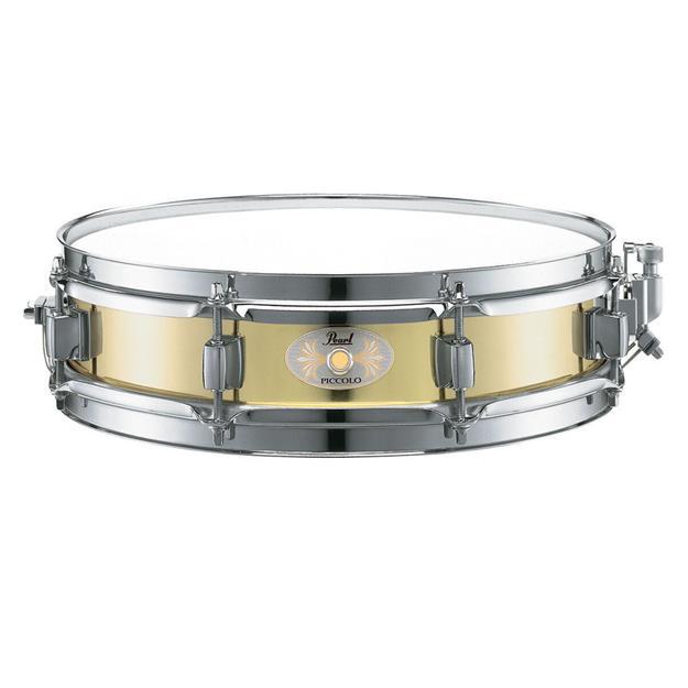 """Pearl Brass Piccolo 13""""x 3"""" Snare Drum"""