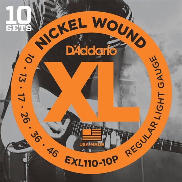 D'addario EXL110-10P Pro Packs (10Sets)
