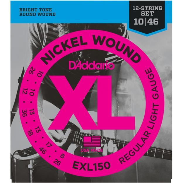 D'addario EXL150 / 12-String Regular Light