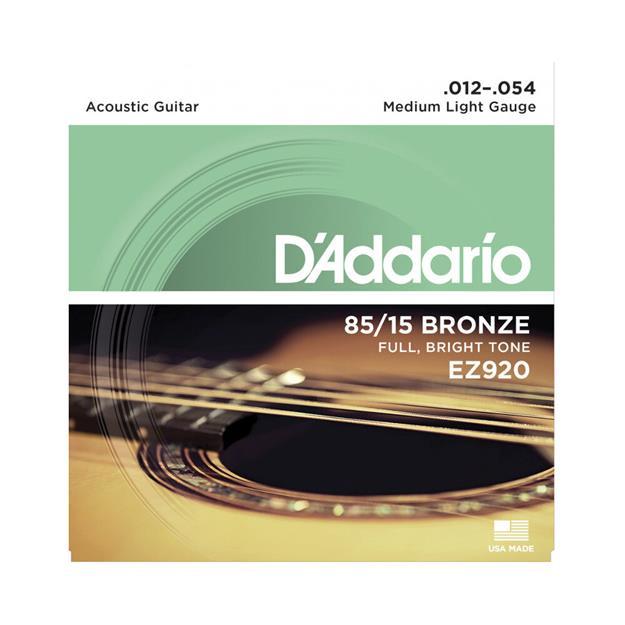 D'addario EZ920 Medium Light American-Bronze