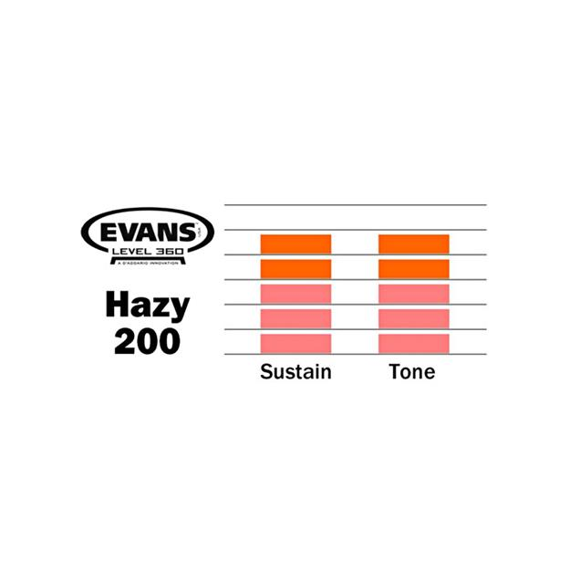 Evans Hazy 200 - 13'' Snare Resonanzfell - 1-lagig