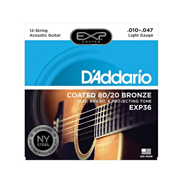 D'addario EXP36 Light Coated 80/20 Bronze