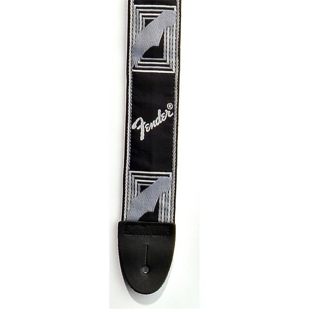 Fender Monogram Strap, Black/Light Grey/Dark Grey