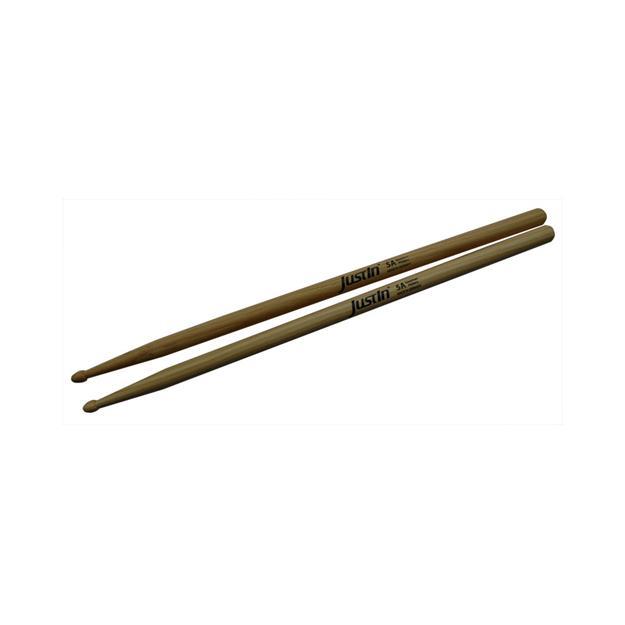 Justin 5A Drumsticks - Hickory - Holz Tip