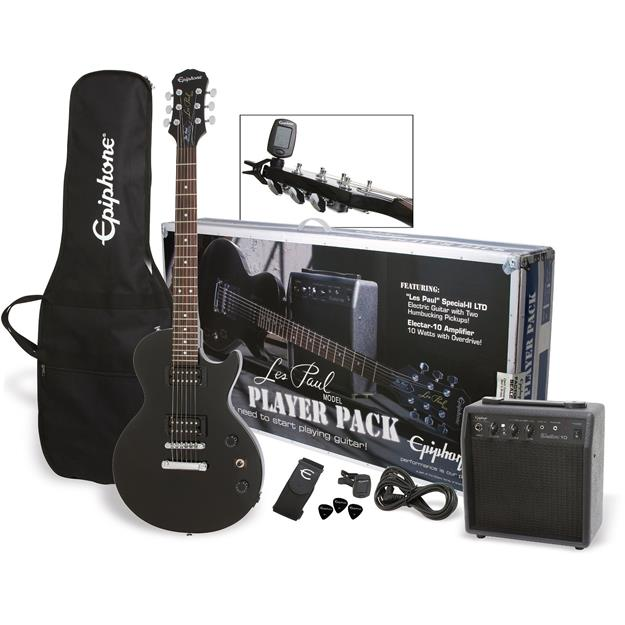 Epiphone Les Paul Electric Guitar Player Pack, RW/ Ebony