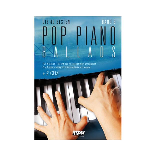 Hage Musikverlag Pop Piano Ballads 3 mit 2 CDs
