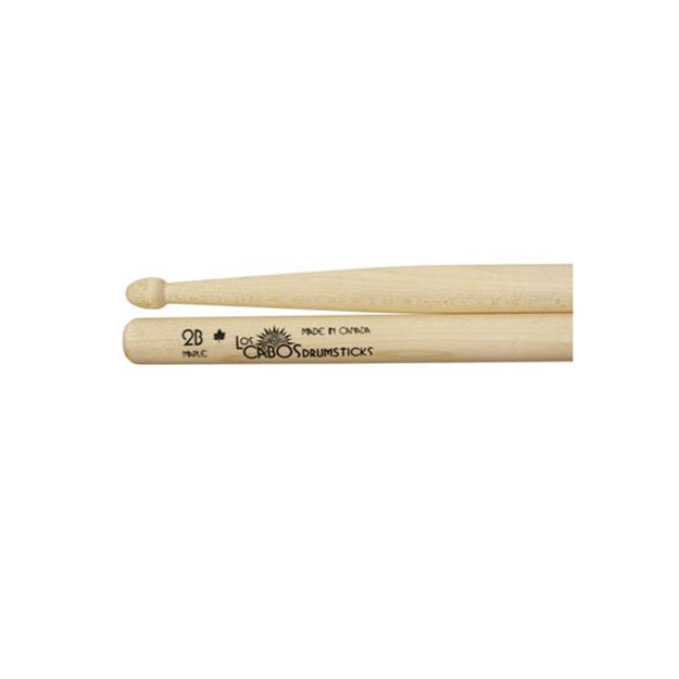 Los Cabos 2B Drumsticks - White Maple - Holz Tip