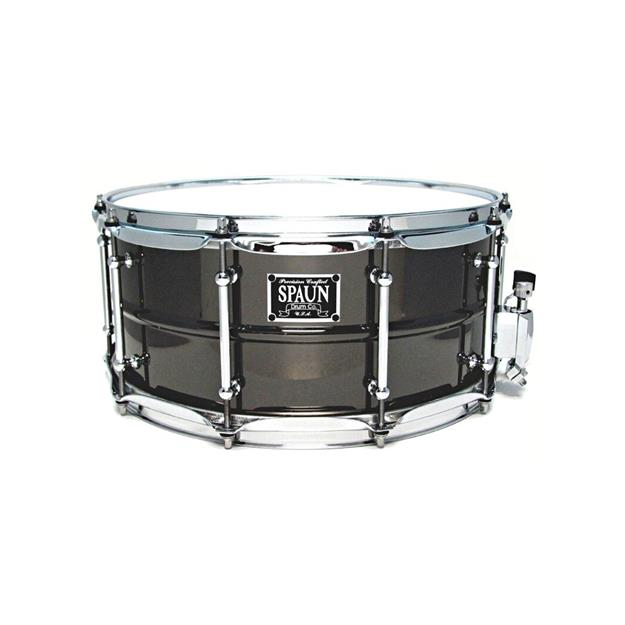"SPAUN Brass 14""x 6 1/2"" Snare - Black Nickel"