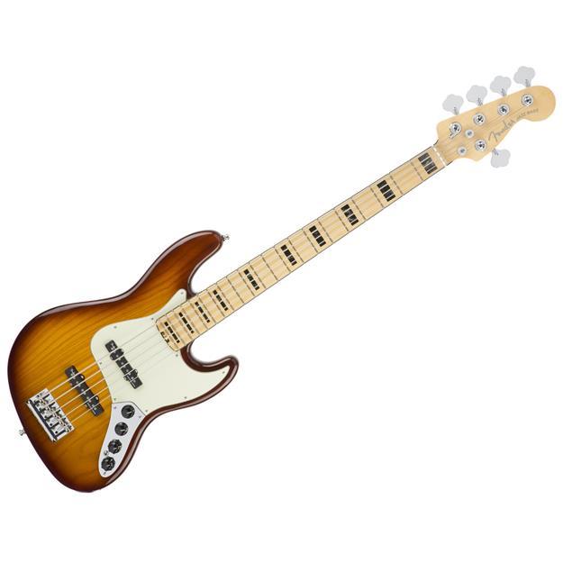 Fender American Elite Jazz Bass V Ash, MN Tobacco Sunburst