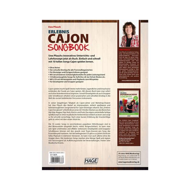 Hage Musikverlag Erlebnis Cajon Songbook mit CD