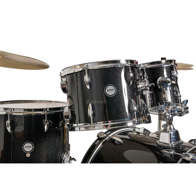 Justin Studio Series 20 Schlagzeug Set Black Sparkle