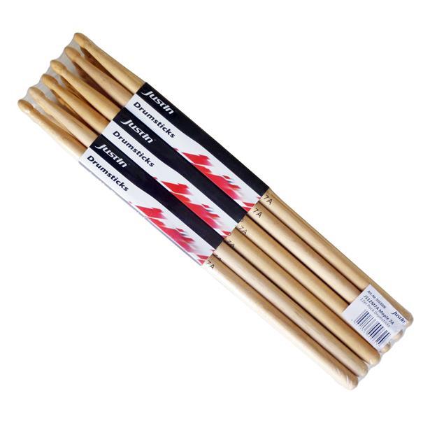 Justin 7A Drumsticks - Maple - Holz Tip