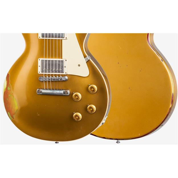 Gibson Les Paul Standard Gold over Cherry Sunburst aged