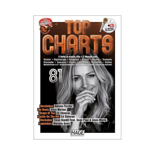 Hage Musikverlag Top Charts 81 mit CD