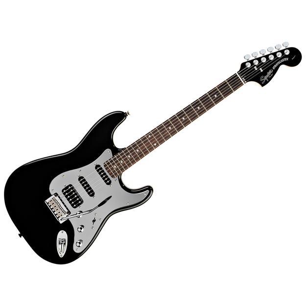 Squier Stratocaster Black & Chrome HSS, Black