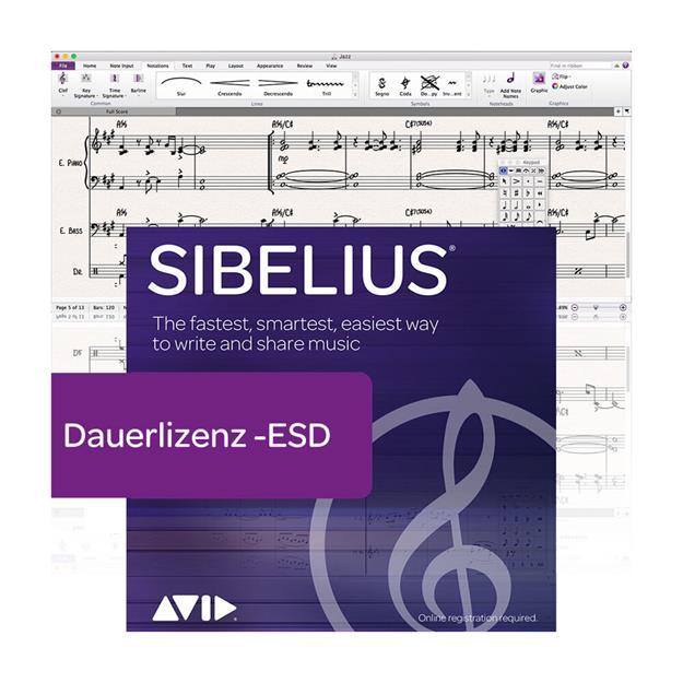 Avid Sibelius Dauerlizenz Lizenzcode