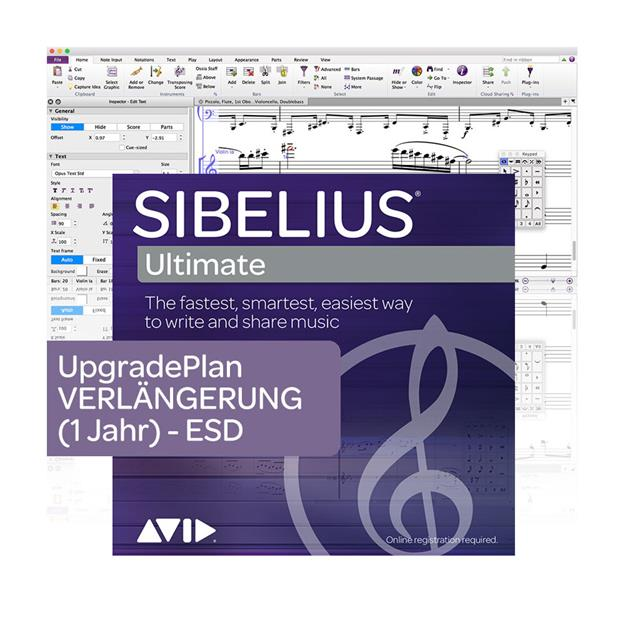 Avid Sibelius Ultimate Upgrade Plan Lizenzcode