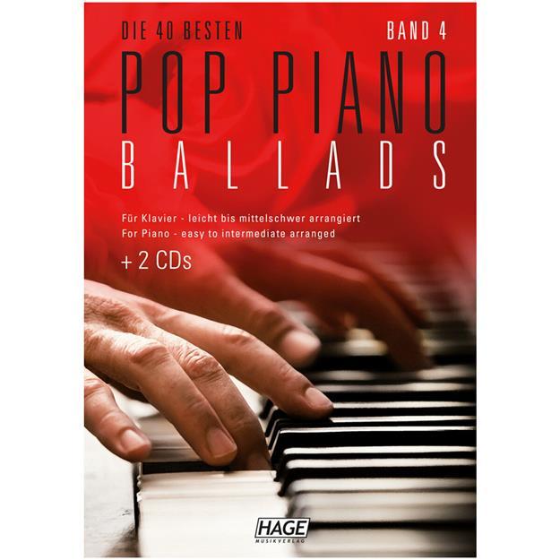 Hage Musikverlag Pop Piano Ballads 4 mit 2 CDs