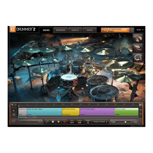 Toontrack EZX Drums of Destruction Lizenzcode