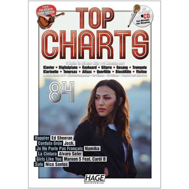 Hage Musikverlag Top Charts 84 mit CD