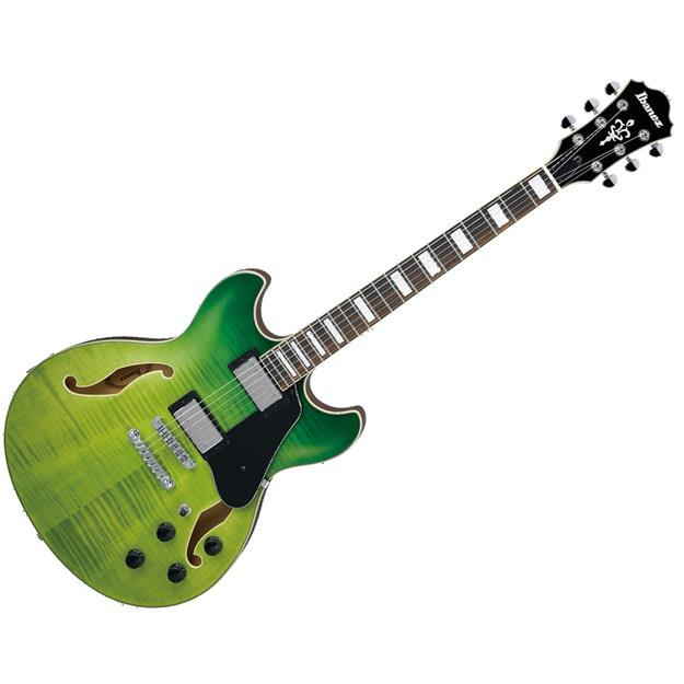 Ibanez AS73FM-GVG, Lorbeer, Green Valley Gradation