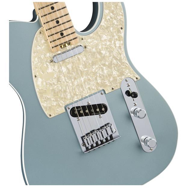 Fender American Elite Telecaster, MN Satin Ice Blue Metallic