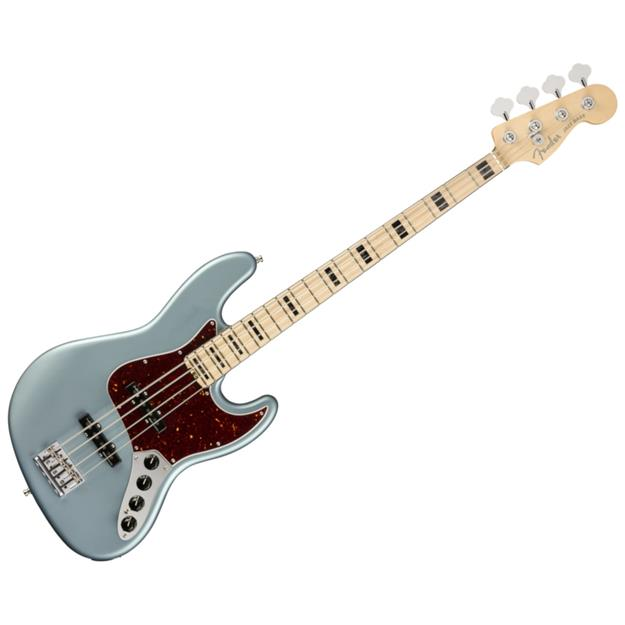 Fender American Elite Jazz Bass, MN Satin Ice Blue Metallic