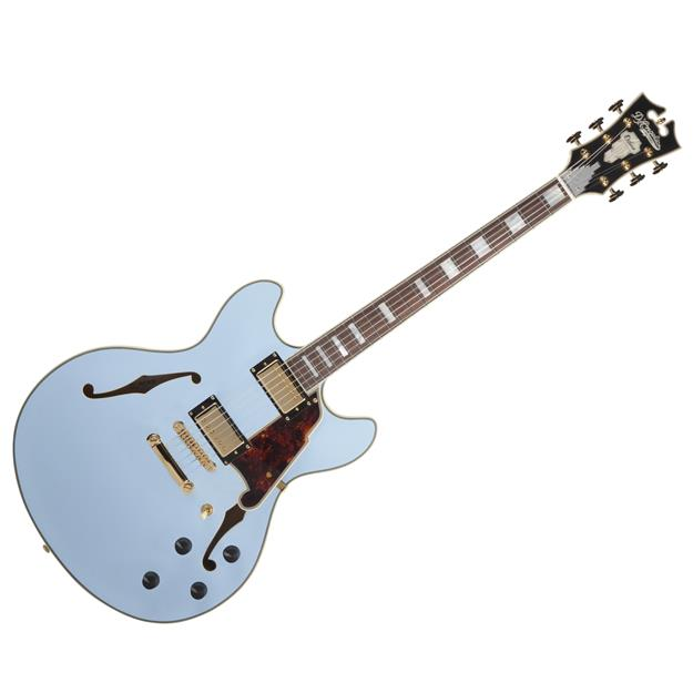 D'angelico Deluxe DC, Matte Powder Blue