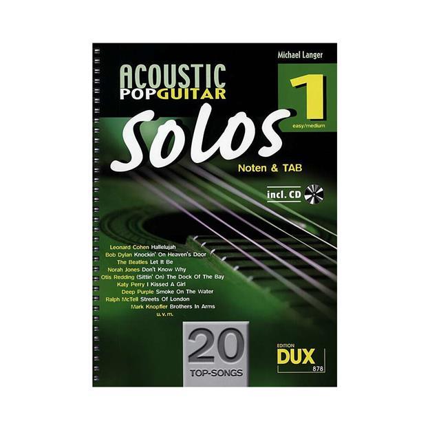 DUX Acoustic Pop Guitar Solos Band 1
