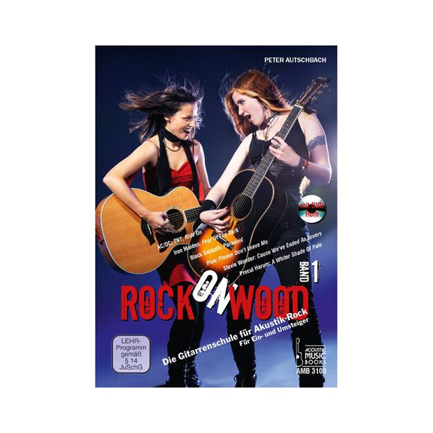 Acoustic Music Books Rock on Wood 1 mit DVD-Rom