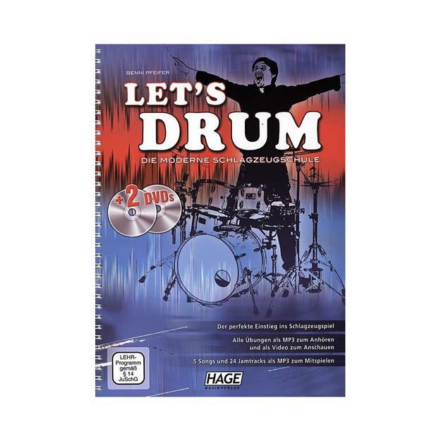 Hage Musikverlag Lets Drum mit 2 DVDs