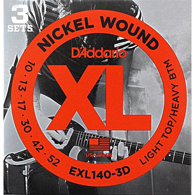 D'addario EXL140-3D Light Top/Heavy Bottom