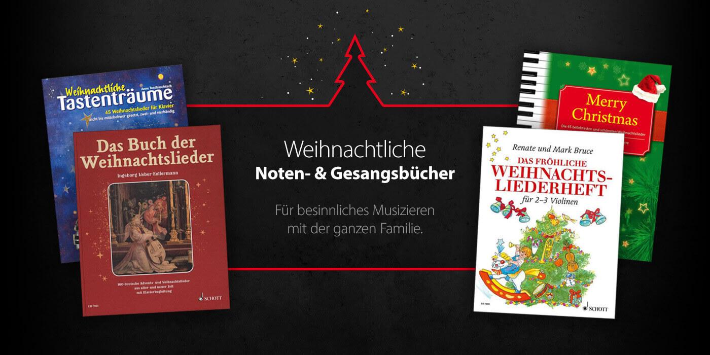 Weihnachtliche Noten- und Gesangsbücher bei JustMusic