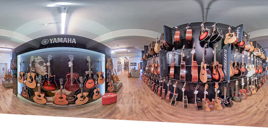 JustMusic Berlin FlagShipStore - Abteilung Acoustic Guitars