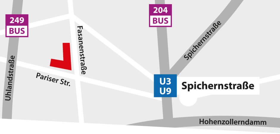 PianoGalerie Berlin - Anfahrt